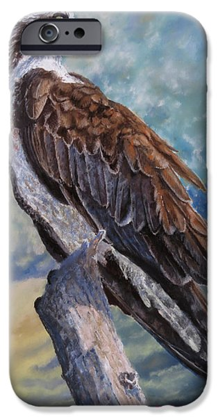 Eagle Pastels iPhone Cases - Fisher King iPhone Case by Marcus Moller