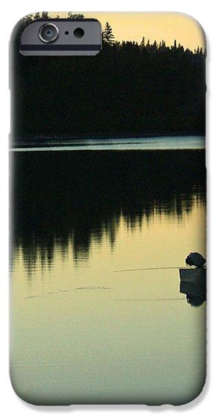 Fisherman at Dusk iPhone Case by Nancy Harrison