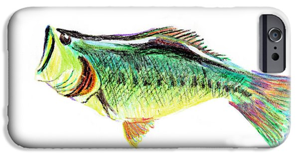 Aquatic Mixed Media iPhone Cases - Fishermans Delight iPhone Case by Kip DeVore