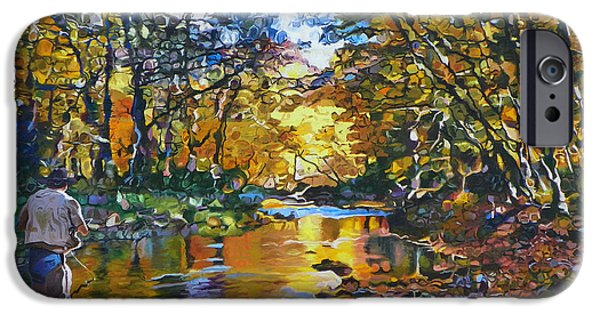 Autumn Trees iPhone Cases - Fishermans Dream iPhone Case by Kenneth Young