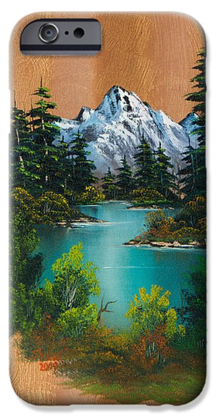 Recently Sold -  - Bob Ross Paintings iPhone Cases - Anglers Fantasy iPhone Case by C Steele