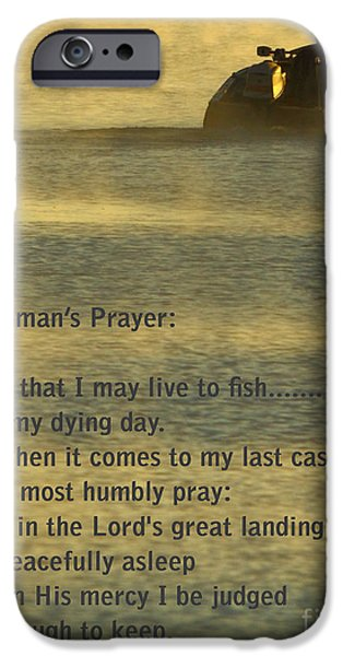 Tackle iPhone Cases - Fishermans Prayer iPhone Case by Robert Frederick