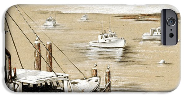 Chatham Drawings iPhone Cases - Fishermans Wharf Chatham Mass. iPhone Case by Todd Bachta
