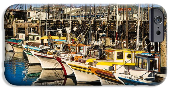 Fishermen iPhone Cases - Fishermans Wharf San Francisco iPhone Case by Steve Gadomski