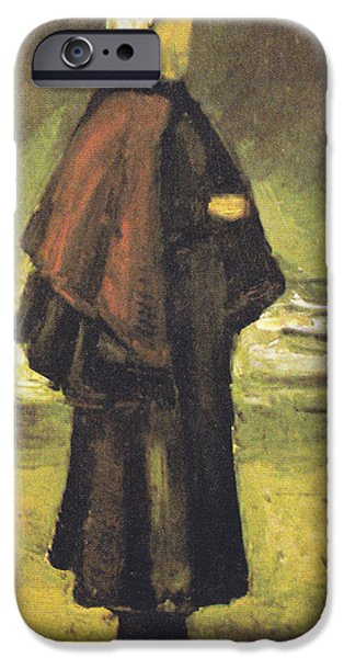 Fishermans Wife On The Beach iPhone Case by Vincent Van Gogh