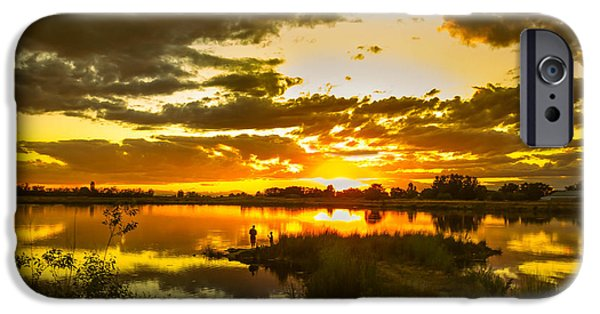 Emmett iPhone Cases - Fishermen Sunset II iPhone Case by Robert Bales