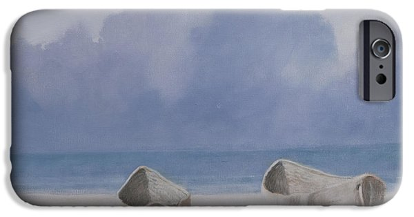 Boat iPhone Cases - Fishermens Dugout, Kilifi, 2012 Acrylic On Canvas iPhone Case by Lincoln Seligman