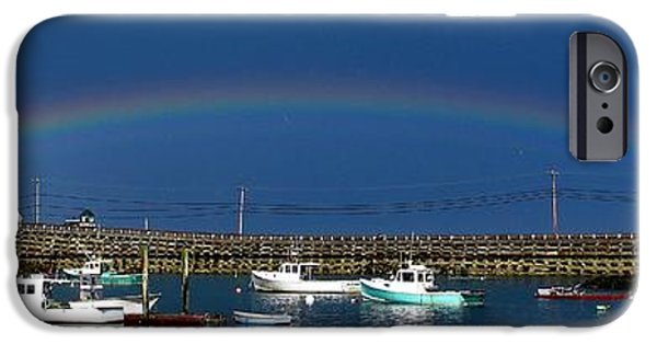 Garrison Cove iPhone Cases - Fishermens Rainbow iPhone Case by Donnie Freeman