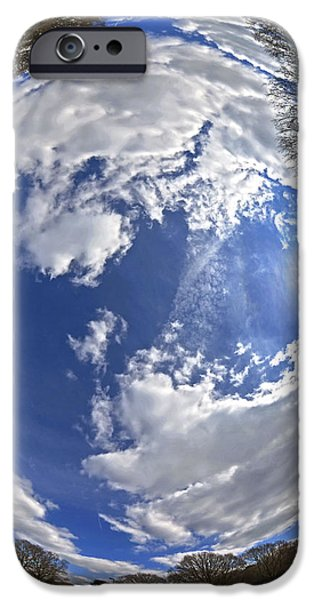 Fisheye park iPhone Case by Jane Rix