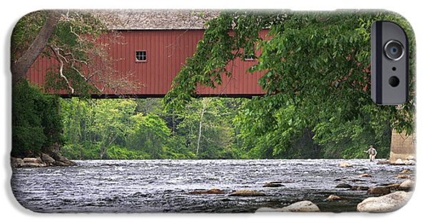 Connecticut Landscape iPhone Cases - Fishin iPhone Case by Bill  Wakeley
