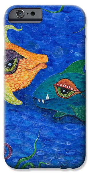 Fishin' for Smiles iPhone Case by Tanielle Childers