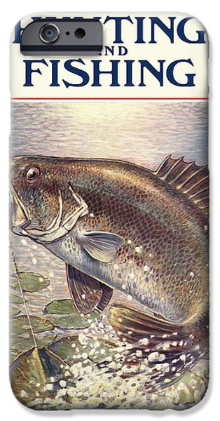 Antiques iPhone Cases - Fishing and Hunting Magazine iPhone Case by Gary Grayson