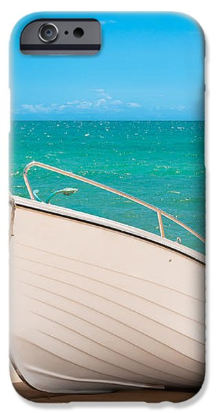 Fishing Boat On The Beach Algarve Portugal iPhone Case by Amanda And Christopher Elwell