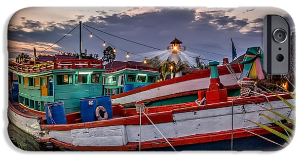 Navigation Digital iPhone Cases - Fishing Boat v2 iPhone Case by Adrian Evans