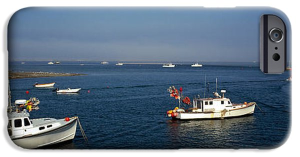 Chatham iPhone Cases - Fishing Boats In An Ocean, Cape Cod iPhone Case by Panoramic Images