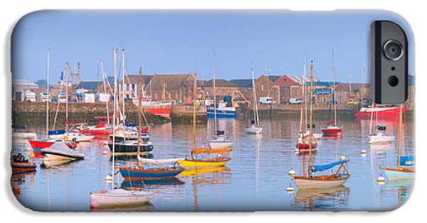 Pleasure iPhone Cases - Fishing Boats in the Howth Marina iPhone Case by Semmick Photo