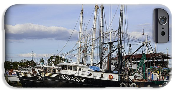 Recently Sold -  - Shed iPhone Cases - Fishing Boats Miss Lupe and Miss Lexy iPhone Case by JG Thompson
