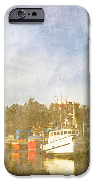 Fishing Boats Newport Oregon iPhone Case by Carol Leigh