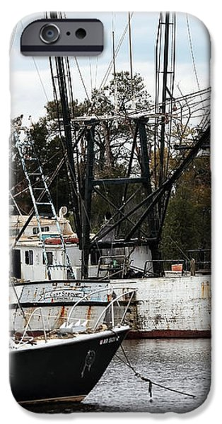 Fishing Boats of Georgetown iPhone Case by John Rizzuto