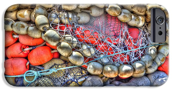 Bouys iPhone Cases - Fishing Bouys iPhone Case by Heidi Smith