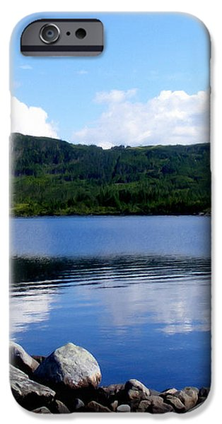Fishing Day - Calm Waters - Digital Painting iPhone Case by Barbara Griffin