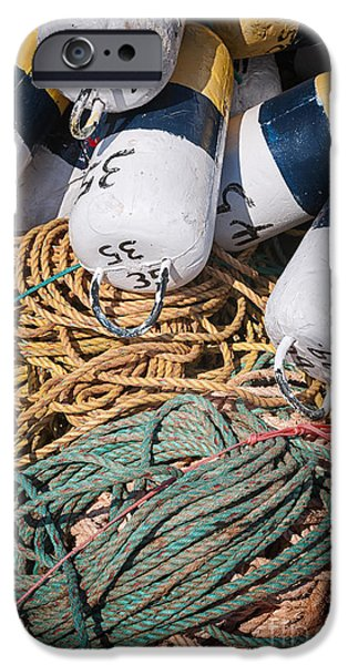 Industry iPhone Cases - Fishing floats and rope iPhone Case by Elena Elisseeva