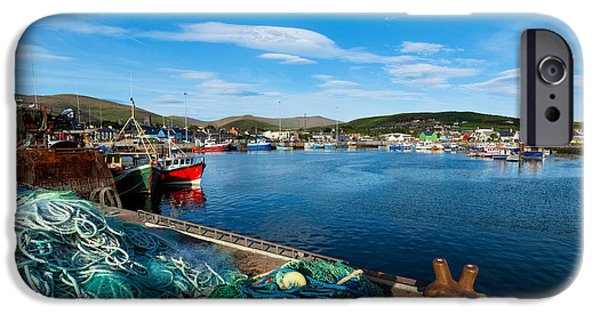 Trawler iPhone Cases - Fishing Harbor, Dingle Harbour, Dingle iPhone Case by Panoramic Images