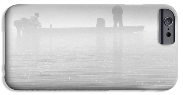 Arkansas iPhone Cases - Fishing in the Fog iPhone Case by Mike McGlothlen