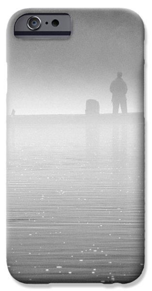 Fishing in the Fog iPhone Case by Mike McGlothlen