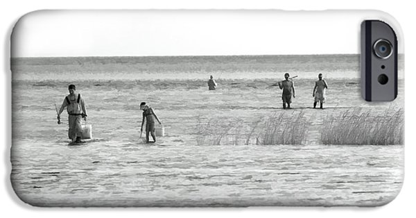 Pamlico Sound iPhone Cases - Fishing in the Sound - Outer Banks iPhone Case by Dan Carmichael