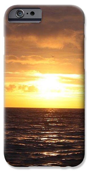 Fishing into the Sunrise iPhone Case by JOHN TELFER