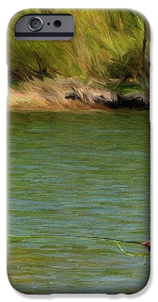 Fishing Lake Taneycomo iPhone Case by Jeff Kolker