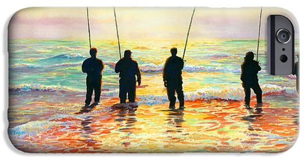 Top Seller iPhone Cases - Fishing Line iPhone Case by Marguerite Chadwick-Juner