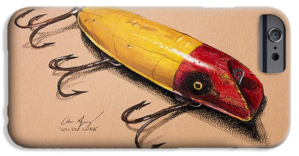 Walleye iPhone Cases - Fishing Lure iPhone Case by Aaron Spong