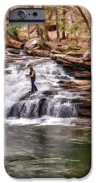 Fishing Mill Creek Falls in West Virginia iPhone Case by Dan Friend