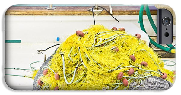 Trawler iPhone Cases - Fishing net iPhone Case by Tom Gowanlock