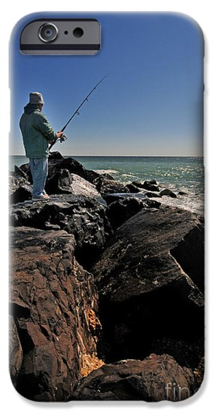 Fishing off the Jetty iPhone Case by Paul Ward