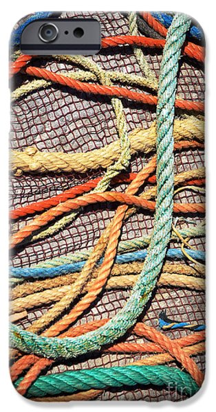 Mess iPhone Cases - Fishing Ropes and Net iPhone Case by Carlos Caetano