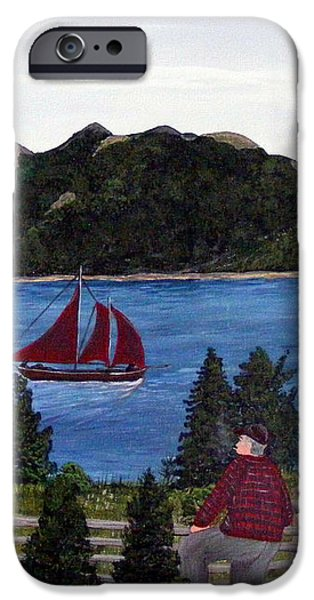 Fishing Schooner iPhone Case by Barbara Griffin