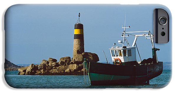 Trawler iPhone Cases - Fishing Trawler In Front iPhone Case by Panoramic Images