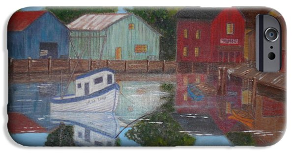 Fishing Pastels iPhone Cases - Fishing Village iPhone Case by Charlyn LeJeune