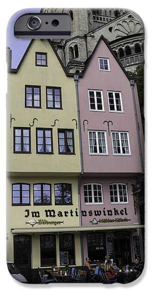 Seventeenth Century iPhone Cases - Fishmarket Townhouses 1 iPhone Case by Teresa Mucha