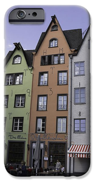 Seventeenth Century iPhone Cases - Fishmarket Townhouses 3 iPhone Case by Teresa Mucha