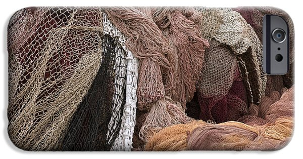 Textile Photographs iPhone Cases - Fishnets iPhone Case by Frank Tschakert