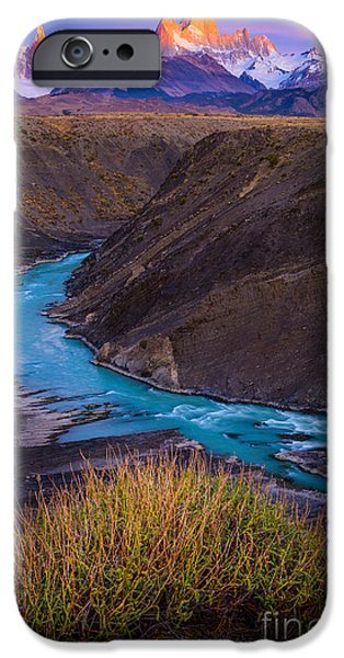 Drama iPhone Cases - Fitz Roy Dawn   iPhone Case by Inge Johnsson