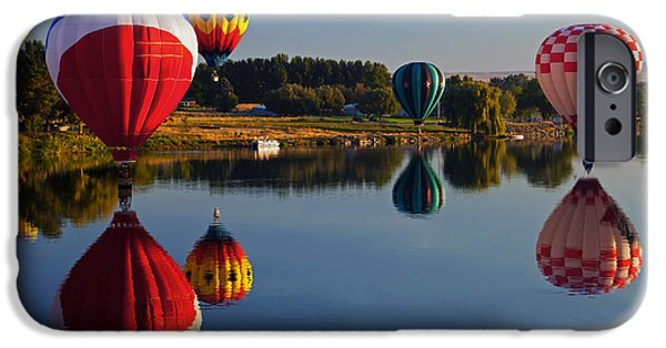 Balloon iPhone Cases - Five Aloft iPhone Case by Mike  Dawson