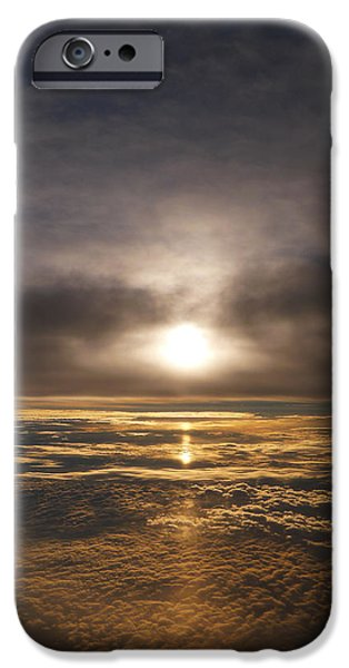 Sun Breakthrough iPhone Cases - Five and a Half mile Sunset iPhone Case by Richard Reeve