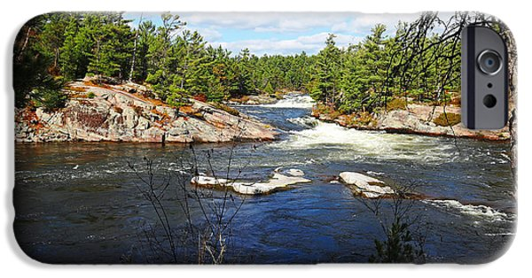 Nation iPhone Cases - Five Finger Rapids In Autumn iPhone Case by Debbie Oppermann