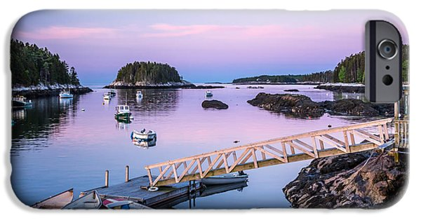 Mid-coast Maine iPhone Cases - Five Islands Dawn iPhone Case by Susan Cole Kelly