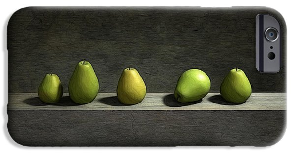 Green iPhone Cases - Five Pears iPhone Case by Cynthia Decker